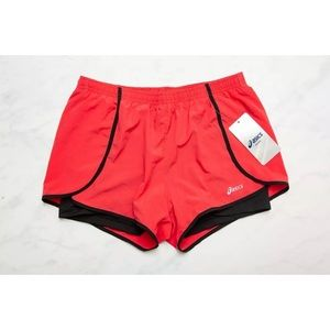 "NWT Small Red Asics ""Diana Short"" Base Layer Liner"
